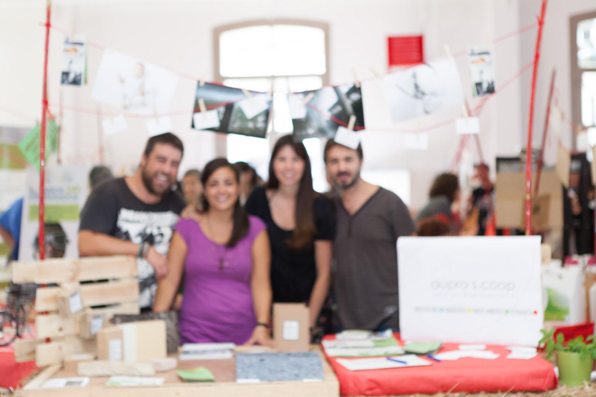 aupro cooperativa en la VI Feria del Mercado Social de Aragón.